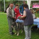 Branka Krajnc Sluga je ocenjevala vzrejno vrednost psov