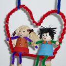 viseča gugalnica za valentinovo