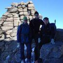 Prvi trije na vrhu - Urša, Tomaž in Klemen.