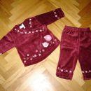 74/80-PLIŠAST KOMPLET HM-lepo ohranjen,mehak,pulover in hlače  cena: 7,50 eur