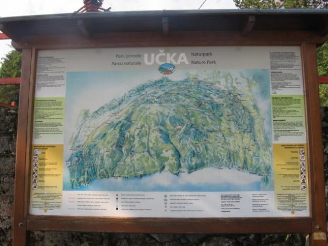 Zemljevid nature parka učka