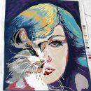 ženska s mačko