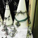 žica+ steklo+perlice = nakit