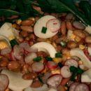 fižol, paprika, jajca, redkvica in rukula