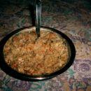 Ajdova kaša z zelenjavo, kislosmetano in paradajzom