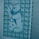 snežak v zelenih odtenkih