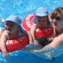 cofanje v velikem bazenu