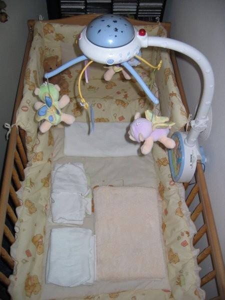 Posteljica in cotke za v porodnišnico