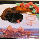 Ledena čokoladna torta (lastna krasitev)