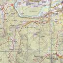 Izsek karte Pohorja z dolino potoka Lobnice in bližnjo okolico.
