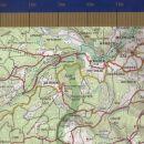 Za konec še izsek zemljevida Pokljuke s pogledom na našo pot in dostop do nje skozi Krnico