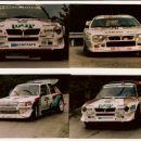 Piancavalo 1986; Lancia S4-Cerrato Peugeot 205 T16-Andrea Zanussi; Lancia 037-Alessandri
