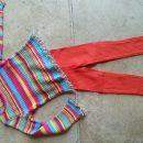 Benetton pulover (parkrat oblečen) in pajkice (nove) št. 110