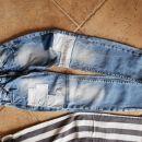 črtaste in jeans Benetton 128-134