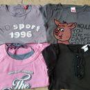 4 x majica z dolgimi rokavi (Esprit,HM,CA) 128-134