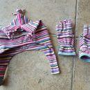 dekliški kompleti kap in rokavic 4-7 let (Benetton in HM)