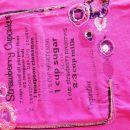 NOVE hlače z bombažno podlogo in majica z vezenimi vzorci vel.128