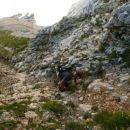 Vizi v plezalnem delu pred S. sedlom