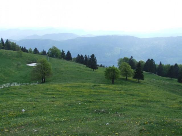 Pogled na dolino ....
