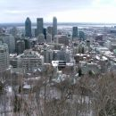 Zimska panorama mesta iz Mont Royal-a