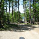 Spodnji del kampa. Po tej poti navzdol pridemo do glavne ceste, cez njo pa do nase hise in
