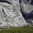 Pot na Mali Koritniški Mangart (spodnji del poti)